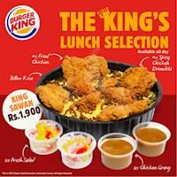 King Sawan for Rs 1900 at Burger King