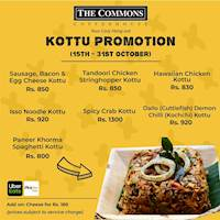 KOTTU PROMOTION at The Commons Coffee House