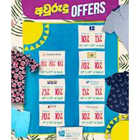 It's time to enjoy our Avurudu seasonal card offers at The Factory Outlet