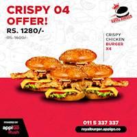 Crispy 04 offer at Royal Burger