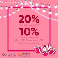 Sampath Banks Card Holders – don't miss out on this limited time offer – 20% off on credit and 10% off on debit card purchases on the 12th & 13th of December.
