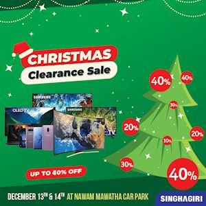Christmas Clearance Sale from Singhagiri
