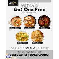 Buy one Get One Free on Selected items at Indian Summer