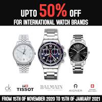 Up to 50% off for international watch brands at Uptown Liberty Plaza