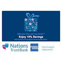 Enjoy 10% Savings with Nations Trust Bank AmericanExpress at GSF Fish Shop - Sri Lanka