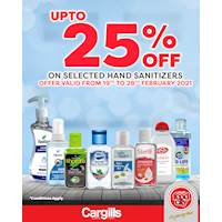 Get up to 25% off on selected Hand Sanitizers at Cargills FoodCity!