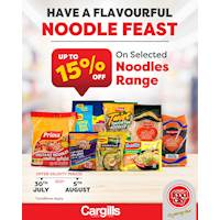 Get up to 15% off on Selected Noodles Range at Cargills food City
