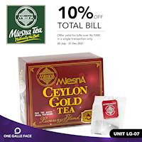 Enjoy 10% off bills over Rs. 1,000 when you shop at at mlesna ceylon tea! Exclusively for One Galle Face Rewards Members