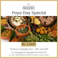 Indulge in a special meal from The Kingsbury this Poya!