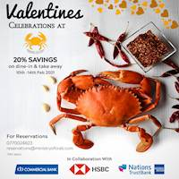 20% saving on selected cards at Ministry Of Crab