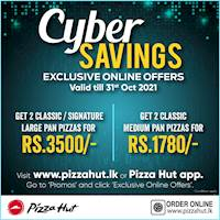 Cyber Savings at Pizza Hut for this October
