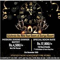 Celebrate the new year Dawn at Suriya Resort