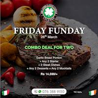 Combo meal for two at The Four Leafed Clover