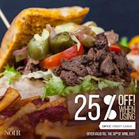Enjoy a discount of 25% when using a DFCC Credit Card at Cafe Noir