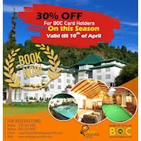 Get 30% Off for BOC Card holders at Araliya Green Hills - Nuwara Eliya