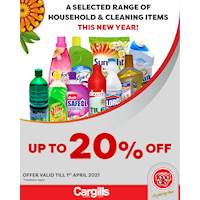 Get up to 20% Off on selected Households & Cleaning items at Cargills FoodCity!