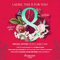 One in every group of 4 will dine in free at the Gardenia Coffee Shop and Alhambra Moghul Restaurant