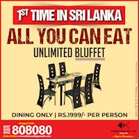 Unlimited Bluffet just for Rs.1999 at Chinese Dragon Cafe! (till 20th only)