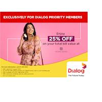 Enjoy 25% OFF on your total bill value at Zigma Jones for Dialog Priority Members