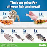 The best price for all your fish and meat at keells