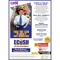 """Executive Certificate in Occupational Safety and Health""""(ECOSH) - CIPM"""