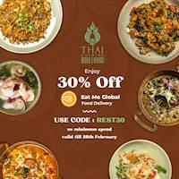 Enjoy 30% Off on Eat Me Global from Thai Cuisine Boulevard
