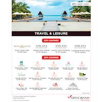 Travel And Leisure offers with DFCC Credit Cards from your favorite local hotels