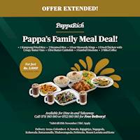 Family Meal Deal for just Rs. 3,500 at PappaRich