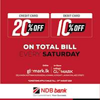 Get up to 20% DISCOUNT for NDB Bank credit and Debit Cards at GLOMARK