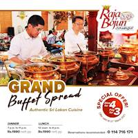 Special offer of Dine for 4 & Pay for 3 at Raja Bojun