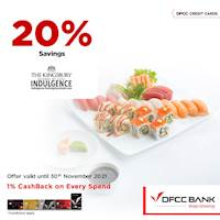 20% savings at The Kingsbury with DFCC Credit Cards!