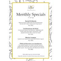 The Bayleaf Monthly Specials