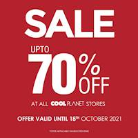 Enjoy up to 70% OFF at Cool Planet Stores