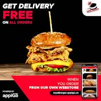 FREE DELIVERY Offer at Royal Burger