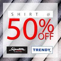 50% Off On Shirts at Hameedia