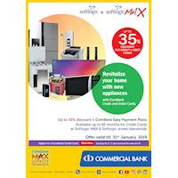 Get up to 35% Discount for Combank Cards at Softlogic and Softlogic Max