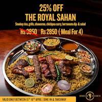The Royal Sahan for Rs 2850 at Arabian Knights