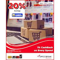 Enjoy 20% Savings at wasi.lk on all products with DFCC Credit Cards!