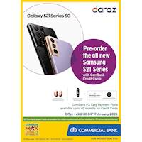 Pre-order the all new Samsung S21 Series with ComBank Credit Cards
