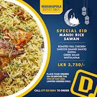 Special Eid Mandi Rice Sawan at Dinemore