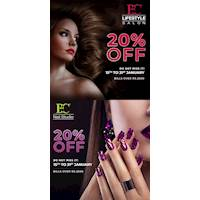 EXCLUSIVE 20% OFF DISCOUNT for services exceeding LKR 2500 at all BC Nail Studios and BC Lifestyle Salon