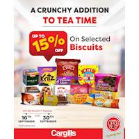 Get up to 15% OFF on a selected range of Biscuits at Cargills FoodCity