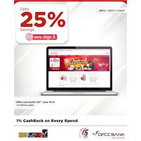 Enjoy up to 25% OFF on selected products at singer.lk with DFCC Credit Cards!