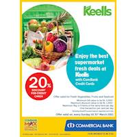 Enjoy 20% Discount for ComBank Credit Cards at keells