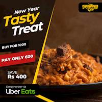 Buy for Rs 1000 Pay only 600 on UberEats from The Foodcycle