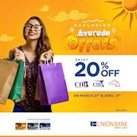 Enjoy 20% off on Union Bank credit cards at CIB, CIB Curtains & Wijaya Saree Mandir for this avurudu season