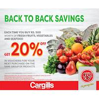 Back to Back Savings at Cargills Food City