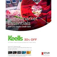 Enjoy 30% Off on fresh meat at Keells with your Seylan Credit Card
