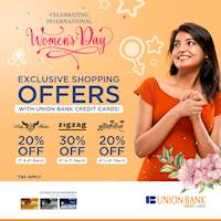 Enjoy exclusive discounts on these fashion brands when you shop with your Union Bank credit card