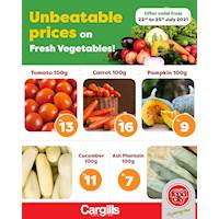 Buy fresh vegetables at the Lowest Price across Cargills Food City outlets islandwide!